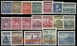 62493 - 1939 Pof.1-19, complete set of, mint never hinged, exp. by G