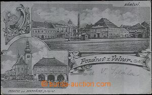 62496 - 1904 Velvary - 2okénková, stříbrná fólie; DA, prošlá, zlomen
