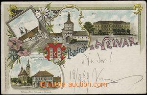 62497 - 1899 Velvary - litografická koláž; DA, prošlá, lehce odřené