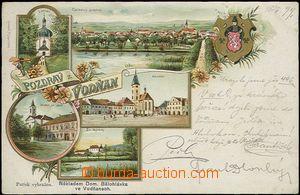62498 - 1899 Vodňany - litografická koláž; DA, prošlá, lehce odřené