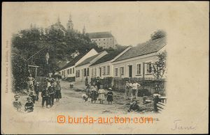 62499 - 1905 Vranov - people in/at uličce; long address, Us, light s