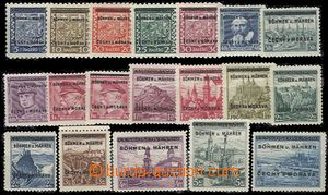 62501 - 1939 Pof.1-19, complete set of, several stamp. with minor gu