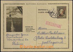 62515 - 1946 CDV81/22 Lomnický štít, červený strojní přetisk,