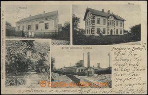 62520 - 1905 Baška - 4okénková, továrna, vlečka; DA, prošlá, dobrý s