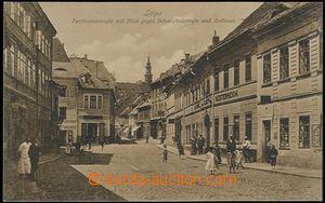 62522 - 1912 Česká Lípa (Leipa) - people in/at commercial street;