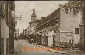 62523 - 1920 České Budějovice (Budweis) - stará ulička; bez adresníc
