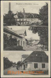 62524 - 1926 Dřevěnice - 3okénková, pivovar, hostinec, obchod; nepou