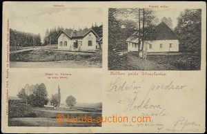 62530 - 1912 Hodkov - 3-views, railway-station, mill; Us, bumped cor