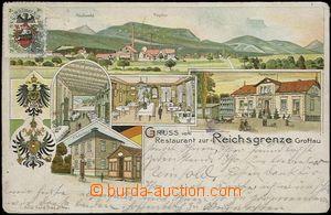 62531 - 1903 Hrádek nad Nisou (Grottau) - litografická koláž, celnic