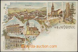 62539 - 1900 Humpolec - litografická koláž, tkalcovská škola; DA, ne