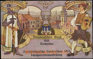62540 - 1913 Chomutov (Komotau) - promotional Ppc German club/associ