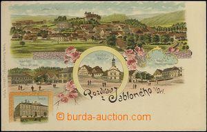 62543 - 1900 Jablonné nad Orlicí - litografická koláž; DA, nepoužitá