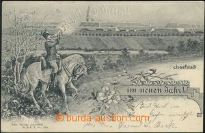 62548 - 1902 Josefov (Josefstadt) - picture collage, soldier mounted