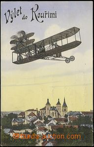 62549 - 1912 Kouřim - collage aircraft over the town; Us, very good