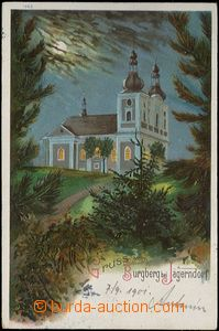 62550 - 1901 Krnov (Jägerndorf) - lithography, night Cvilín; long