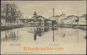 62551 - 1905 Krnov (Jägerndorf) - view over pond; long address, Un,