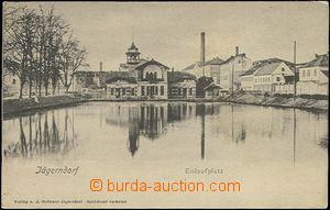 62551 - 1905 Krnov (Jägerndorf) - pohled přes rybník; DA, nepouž