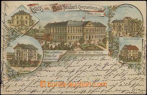 62552 - 1897 Nová Ves  (Neudorf-Constantinsbad) - 5-views lithograph