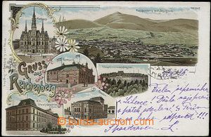 62553 - 1898 Liberec (Reichenberg) - litografická koláž; DA, prošlá,