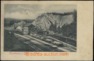 62555 - 1900 LITICE NAD ORLICÍ - nádraží, vlak; DA, prošlá, lehké sk
