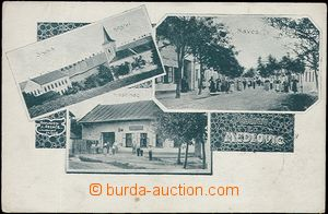 62562 - 1915 Medlovice - 3okénková, škola, kostel, hostinec, náves;