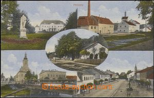 62569 - 1917 Paskov - 5-views, railway-station, brewery, castle, bri