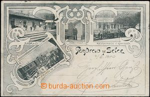 62573 - 1900 SEDLEC (Selc / Selz) - 4-view collage, railway-station,