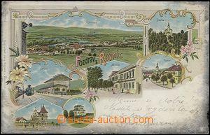 62576 - 1901 Řevnice - litografická koláž, nádraží; DA, prošlá, oxid