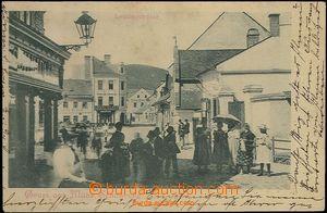 62581 - 1899 Šumperk (Mähr. Schönberg) - lidé v ulici; DA, prošlá, d
