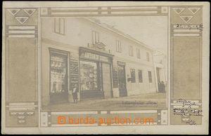 62586 - 1911 Senice na Hané - obchod Antonína Sokola, ozdobný rámeče
