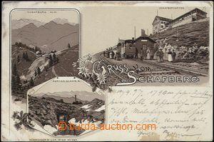 62614 - 1897 Schafbergbahn - zubačka, litografická koláž; DA, pr