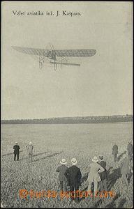 62615 - 1910 vzlet aviatika ing. Kašpara; nepoužitá, lehce odřen