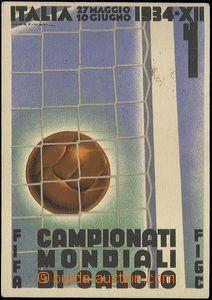 62629 - 1934 FOTBAL, oficiální pohlednice 2. mistrovství světa v