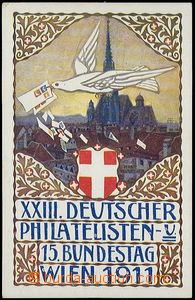 62633 - 1911 Wien - XXIII. German philatelic exhibition; view card w