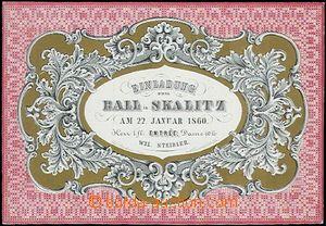 62639 - 1860 plesová pozvánka, Skalice, tisk Böhm, Nové Město n