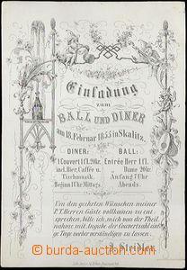 62640 - 1855 plesová pozvánka, Skalice, tisk Böhm, Nové Město n