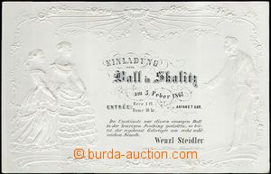 62642 - 1861 plesová pozvánka, Skalice, tlačená, tisk Böhm, Nov