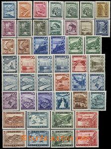 62669 - 1945 Mi.738-770 Landscape, complete set incl. types I. + II.