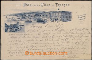 62708 - 1897 Trieste - pérová lithography; long address, Us, very go