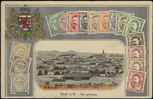 62710 - 1912 Esch s. A. - koláž, známky na pohlednicích, celkov�