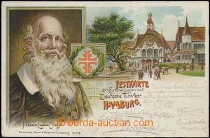 62715 - 1898 Hamburg - lithography, IX. Deutsches (German) Turnfest;