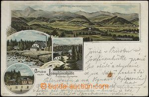 62716 - 1900 Szklarska Poręba - litografická koláž, panorama Krk
