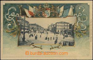 62718 - 1900 München - litografická koláž, foto ulice Ludwigsstr