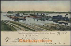 62724 - 1906 železniční trajekt Erdut–Bogojevo (Erdöd–Gombos), přes