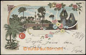 62728 - 1899 EGYPT  Alexandria - litografická koláž, arabské ženy; D