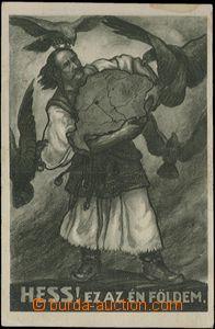 62738 - 1919 maďarská iredenta, alegorie rozdělení Uherska, vydal SZ