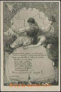 62739 - 1921 maďarská iredenta, alegorie rozdělení Uherska, vydal SZ