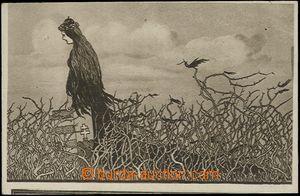 62741 - 1921 maďarská iredenta, alegorie Maďarska na trnité cestě, v