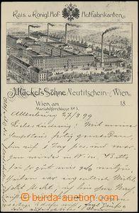 62748 - 1899 Nový Jičín - továrna na klobouky Johann Hückel, pérová