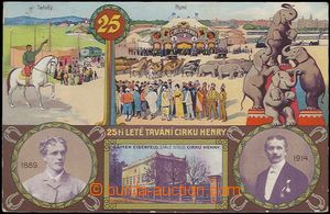 62755 - 1914 circus Henry, 25. Anniv, lithography; Us, bumped corner